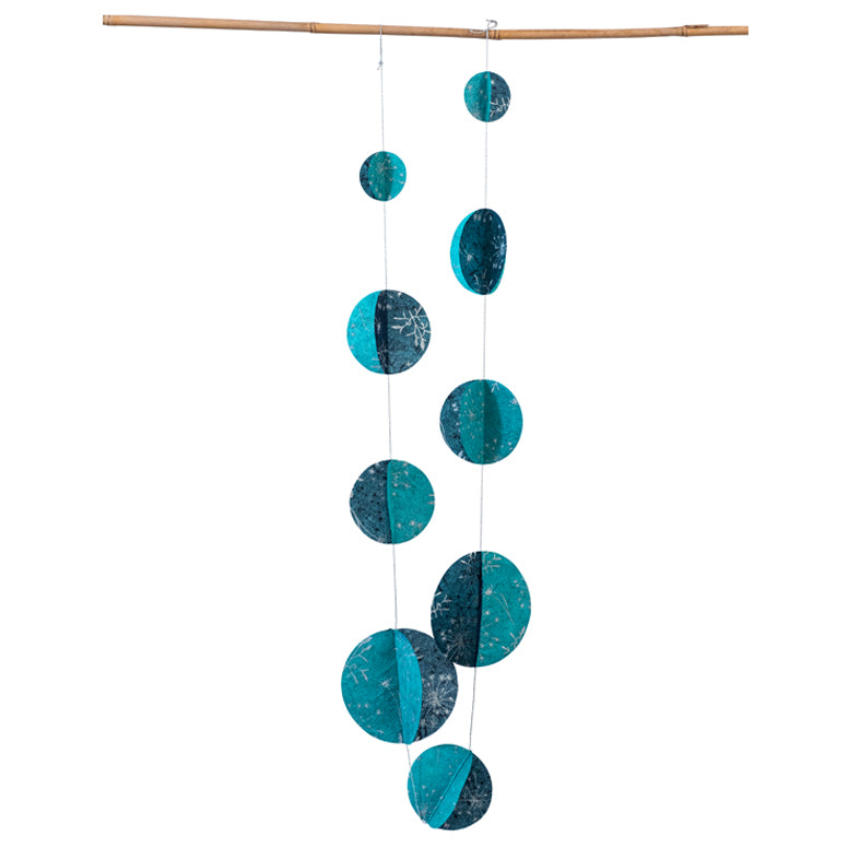 3D Sphere Variable Garland Turquoise