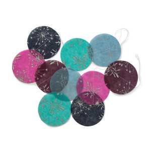 Ellume Life silk paper disc garland decoration detail