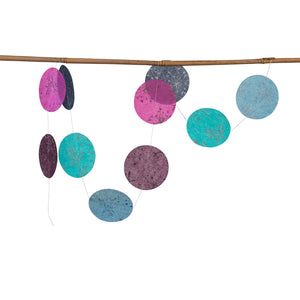 Ellume Life disc silk paper garland decoration