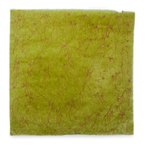 Silk Paper Gift Wrap - 'Jarrah Leaf' Orange/Olive