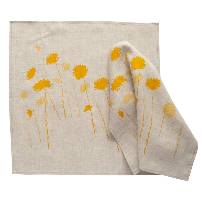 Napkin Pair - 'Everlasting' Yellow