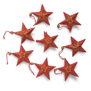 Ellume Life Red and gold star christmas decorations