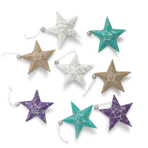 Ellume Life christmas star ornaments