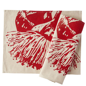 Placemat Pair - Mallee Blossom Red