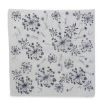 Silk Paper Gift Wrap - 'Bloom' Indigo/White