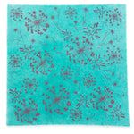 Silk Paper Gift Wrap - 'Bloom' Hot Pink/Aqua