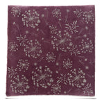 Silk Paper Gift Wrap - 'Bloom'Silver/Plum