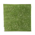 Silk Paper Gift Wrap - 'Bloom' Cream/Vivid Green