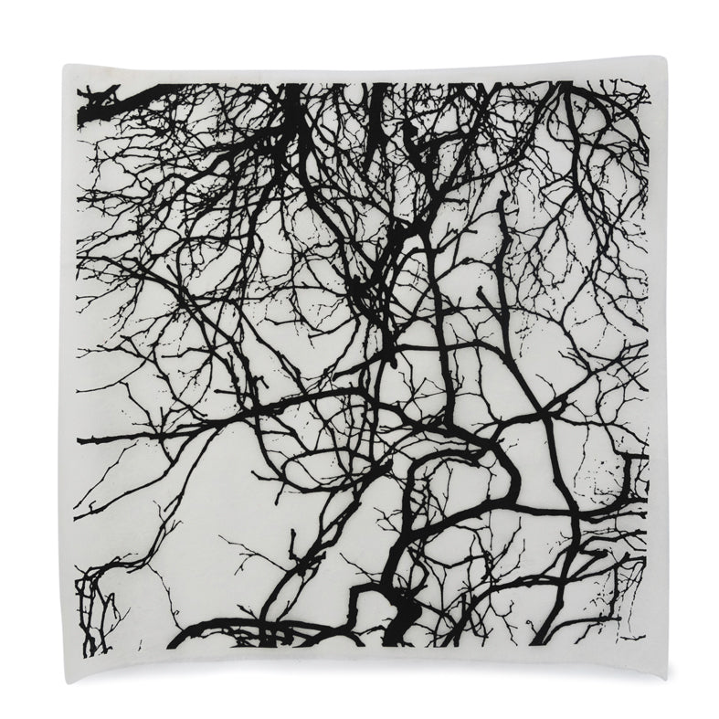 Silk Paper Gift Wrap- Tree Silhouette Black