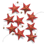 Gold Red Star Garland Large