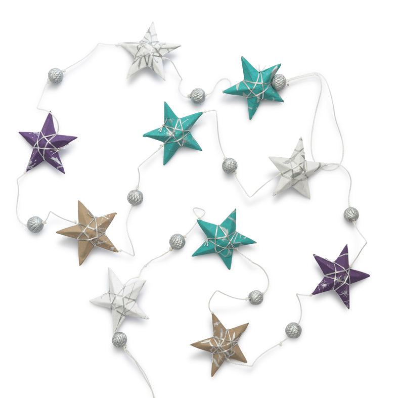 'Ocean' Star Garland Small
