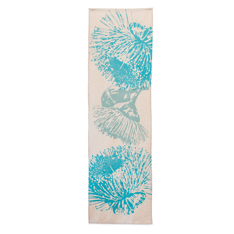 Table Runner 'Mallee' in Turquoise