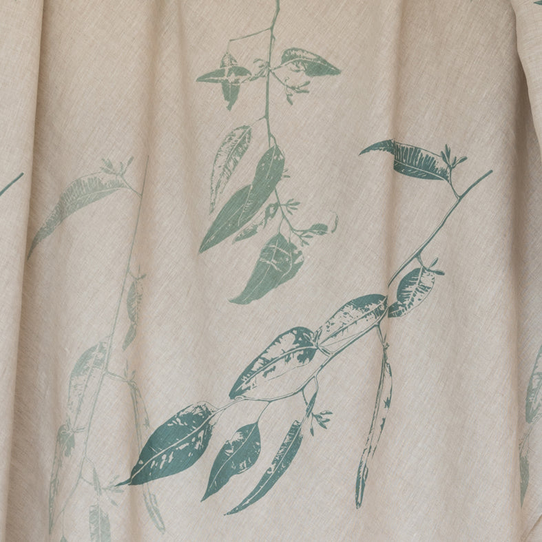 Tablecloth 'Jarrah Leaf' in Eucalyptus Blue