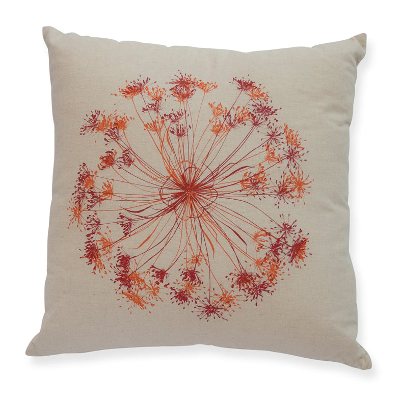 "Red & Orange ""Bloom"" 45cm Cushion"