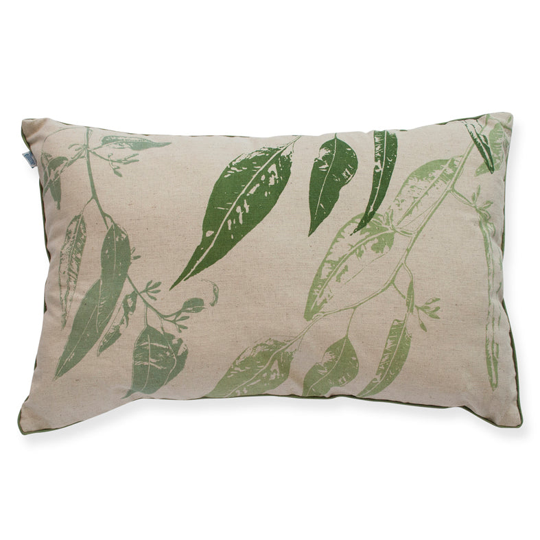Cushion 'Jarrah Leaf' Green 30 x50cm