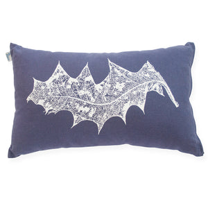 White Grevillea on Indigo 30cm x 50cm Cushion