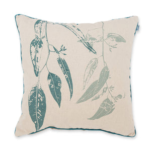 Cushion Jarrah Leaf Eucalyptus Blue 45cm