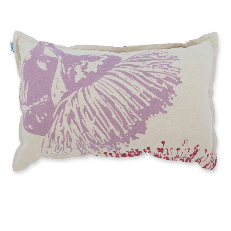 Cushion 'Mallee' in Fuchsia & Lilac 30 x 50cm