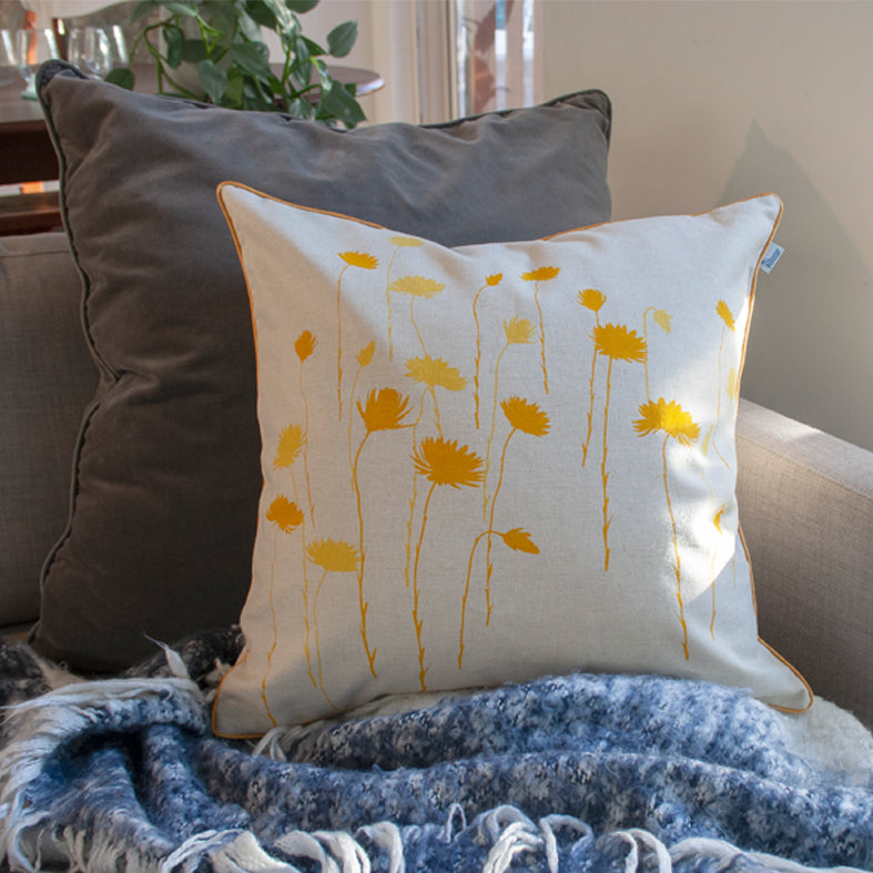 Cushion 'Everlasting' Yellow 45cm