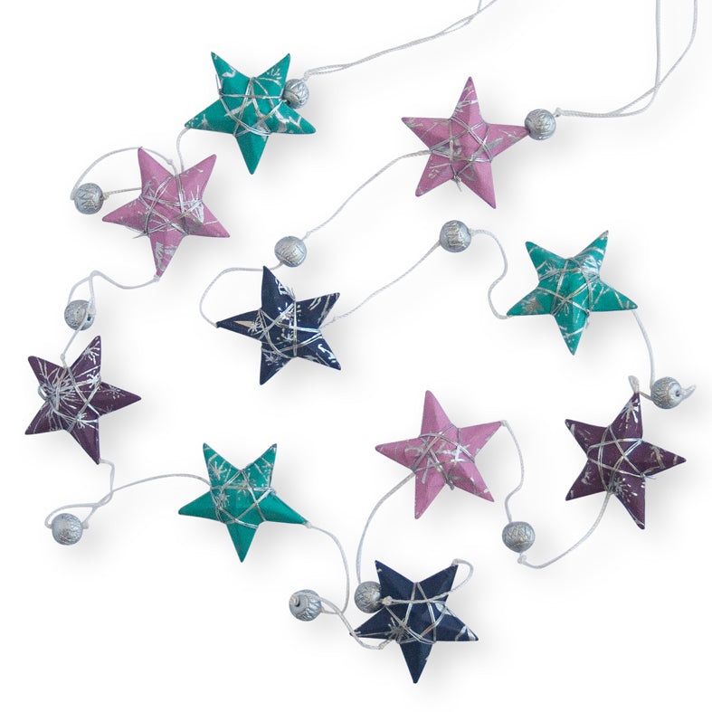 Ellume Life star garland Jewel colours