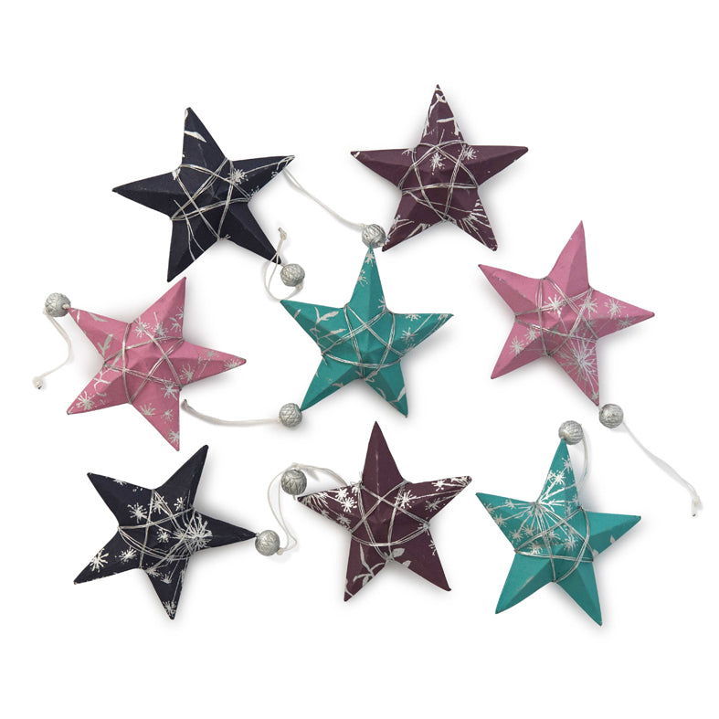 'Jewel' Star Ornament Set 8