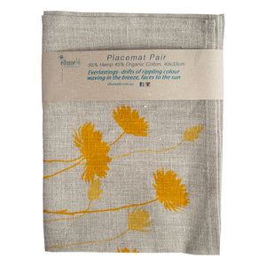 Placemat Pair - Everlasting Yellow