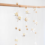 Gold White Star Garland Small