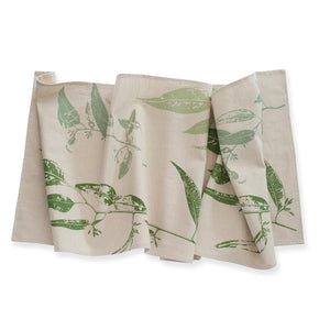 Table Runner 'Jarrah Leaf' Green