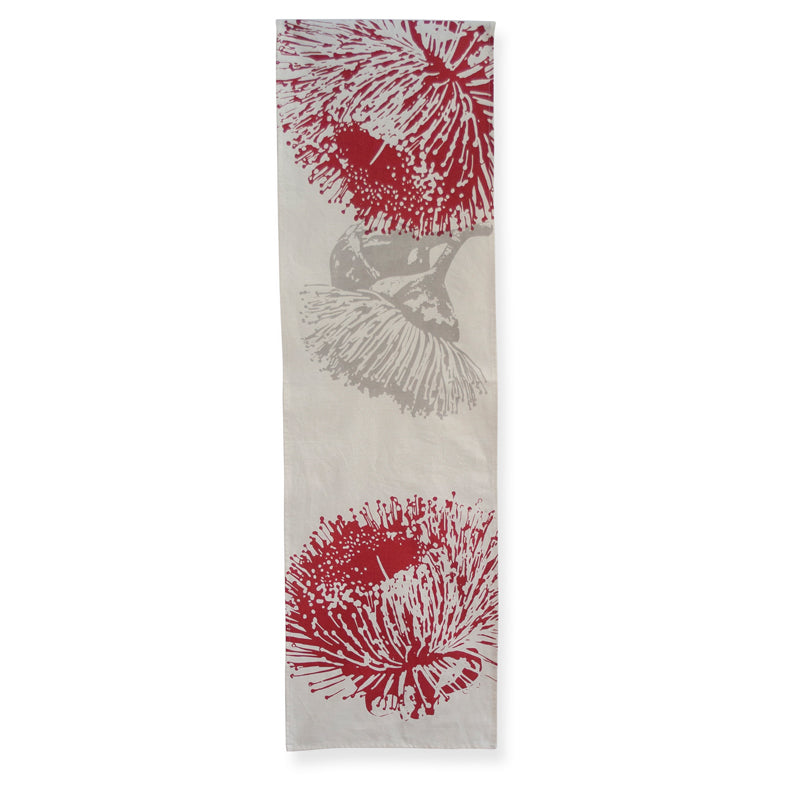 Table Runner 'Mallee' in Red & Grey