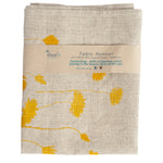 Grey Linen Table Runner 'Everlastings' in Yellow