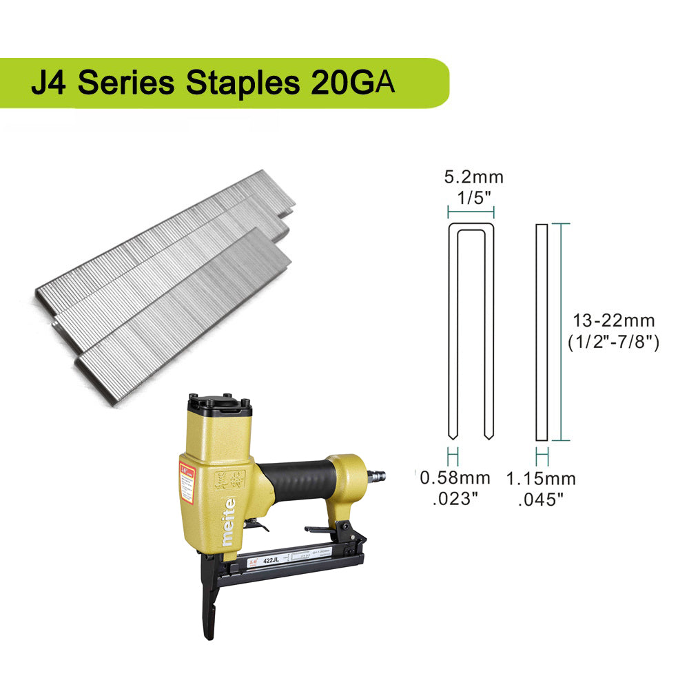 422JL Pneumatic Upholstery Stapler-- 20 Gauge 1/4-Inch Crown 3/8-Inch to 7/8-Inch Long Nose Stapler for Shoe Making