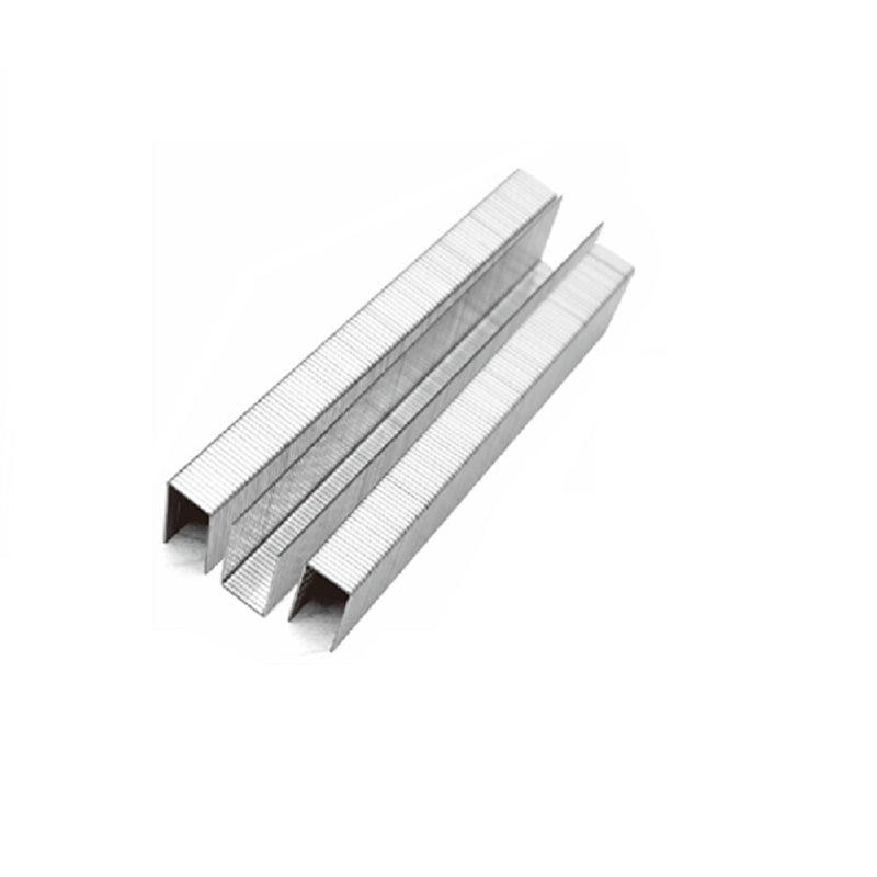 "21 Gauge 80 Series 1/2"" Crown 3/8"" Leg Length 304 Stainless Steel Staples"
