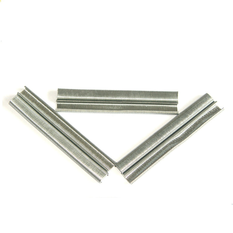 "16 Gauge 7/16"" Crown 5/8"" to 2"" Length Electro Galvanized Upholstery Staples"