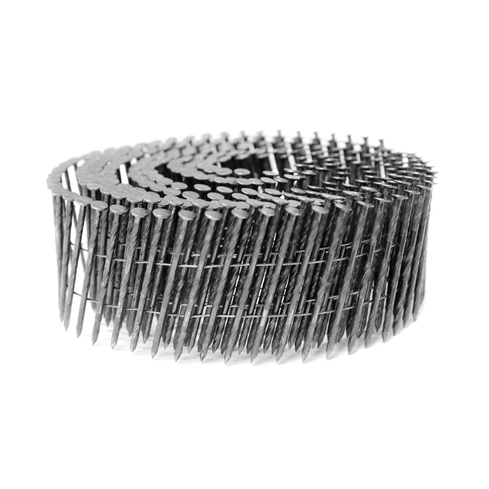 CNFS2550 15 Degree 2'' x 0.099'' Wire Coil Screw Shank Coil Nails