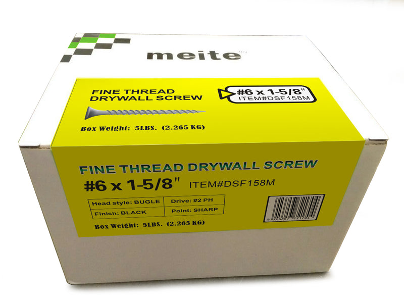 1-1/4'' to 3'' Length Fine Thread Drywall Screws with Bugle Head - Meite USA