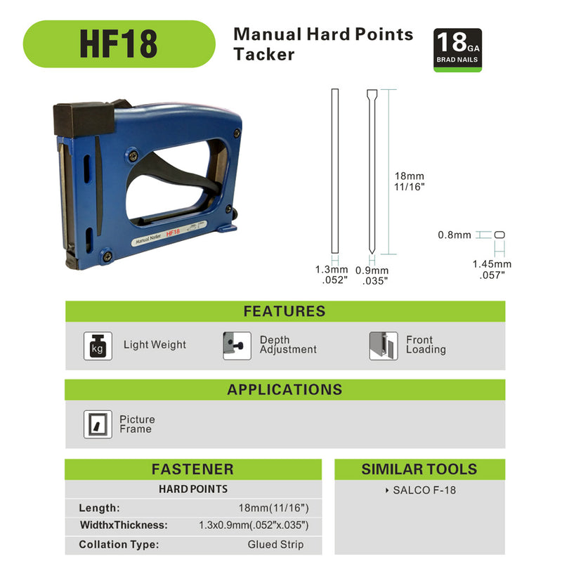 Picture Frame Stapler Manual Hard Point Tacker