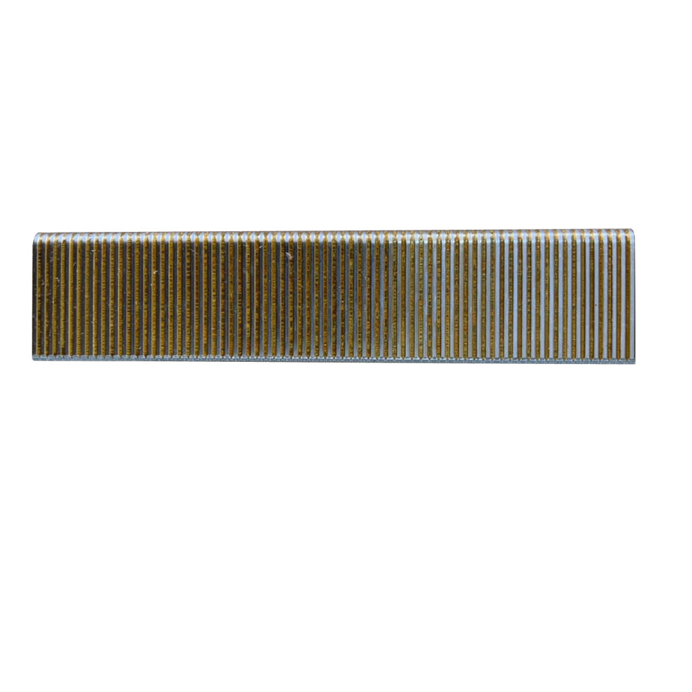 "16 Gauge 7/16"" Crown 3/4"" to 2"" Length Electro Galvanized Upholstery Staples Gold"