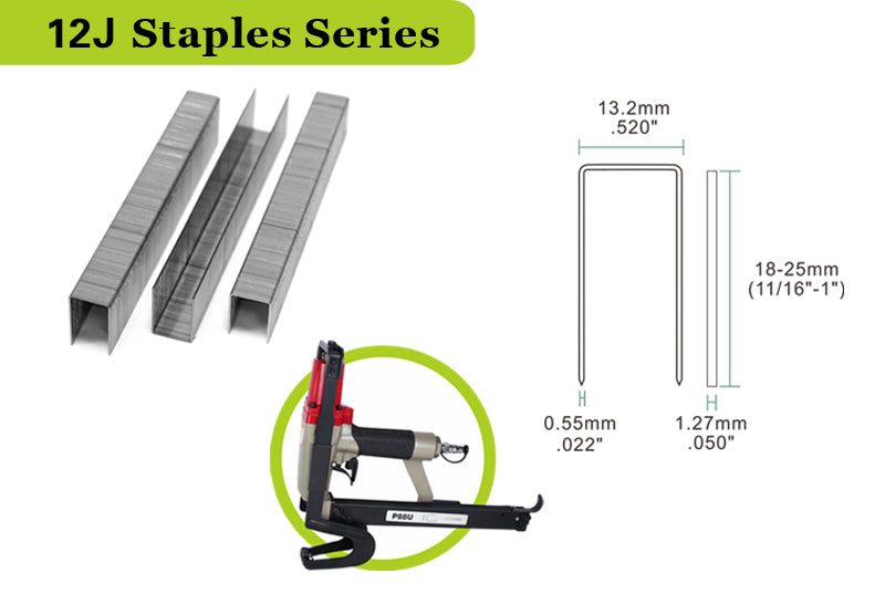 "20 Gauge 1/2"" Crown 3/4"" to 7/8"" Length Pneumatic Stapling Stapler"