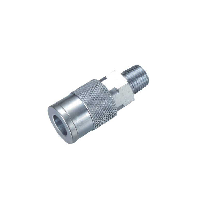 Milton Type 1/4'' NPT Industrial Steel Thread Male Quick Coupler - Meite USA