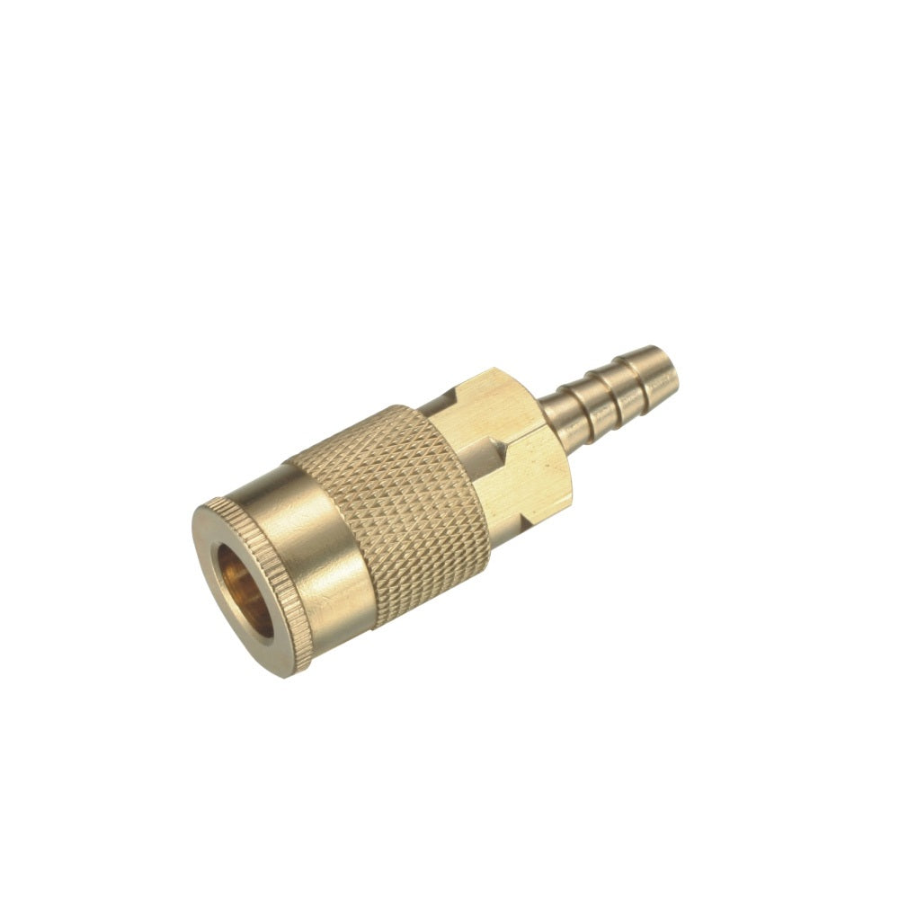 Milton Type 3/8'' Barb Industrial Brass Thread Quick Coupler