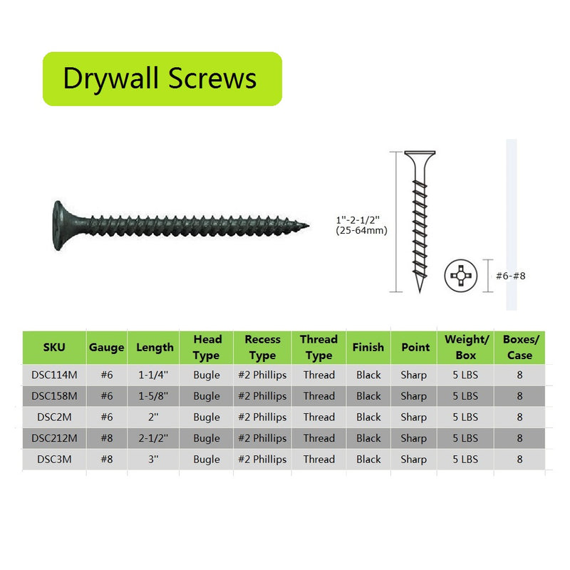 Coarse Thread Drywall Screws