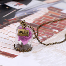 TRENDING Flower Glass Wish Bottle Necklace