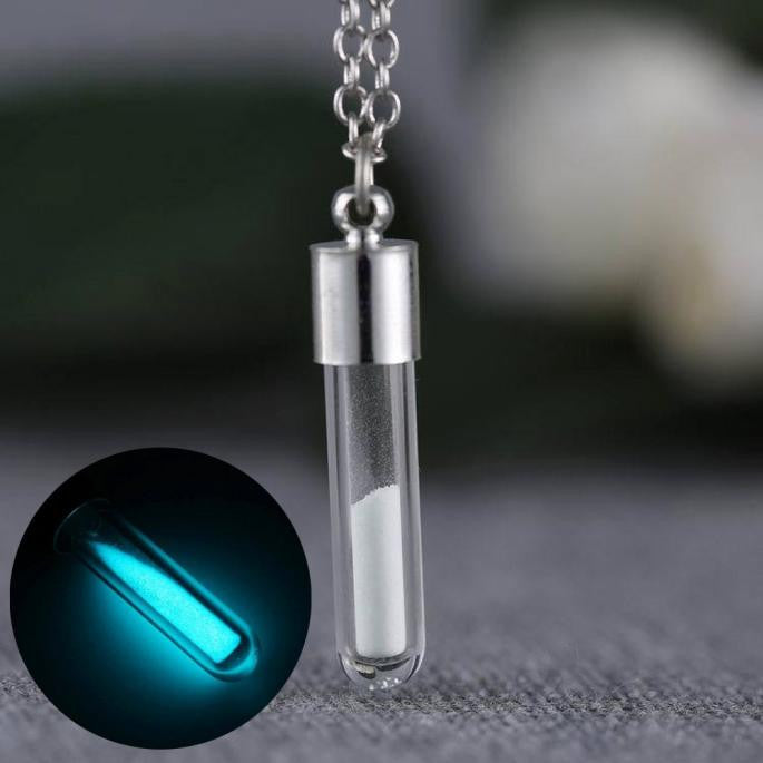 Jewelry Glow In the Dark Necklace Glass Bottle Necklace Pendant