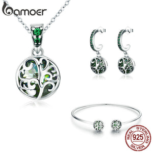 Tree of life Lovely Jewelry Set 925 Sterling Silver