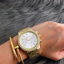 Rose Gold Women Watch With Rhinestones