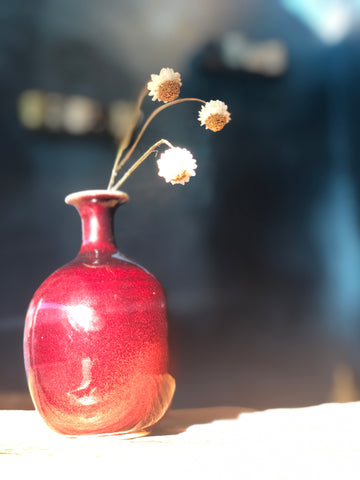 Copper Red Vase (small) from Master Padung