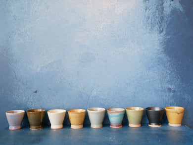Cup glazed : White , Black , Blue , Yellow , Shiny Yellow , Kinyo , Turquoise , Brown , Green