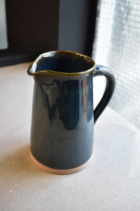 Dark Blue Jug M | Earthy Details | Glazed