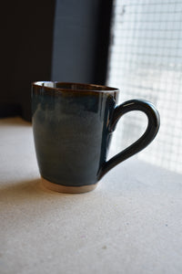 Dark Blue Mug M/L | Earthy Details | Glazed