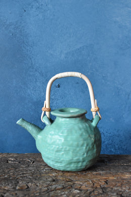 Handmade Tea Pot / green